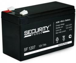 Аккумулятор 12В 7 А∙ч SF 1207  (Подходит для эхолотов и компьютерных бесперебойников)