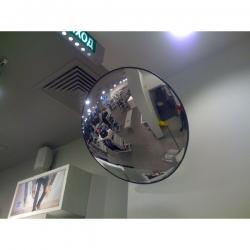 Обзорное зеркало безопасности, диаметр 900 мм, чёрный кант