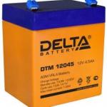 Аккумулятор 12В 4,5 А∙ч DTM 12045  (Подходит для эхолотов и компьютерных бесперебойников)