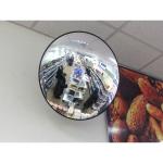 Обзорное зеркало безопасности, диаметр 300 мм, чёрный кант