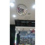Обзорное зеркало безопасности, диаметр 610 мм, чёрный кант