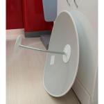 Обзорное зеркало безопасности, диаметр 510 мм, белый кант